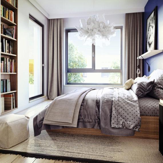 bedroom furniture 3d render
