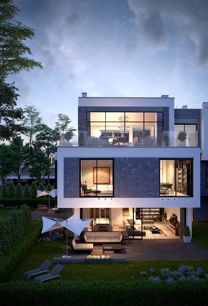 exterior visualization of the house
