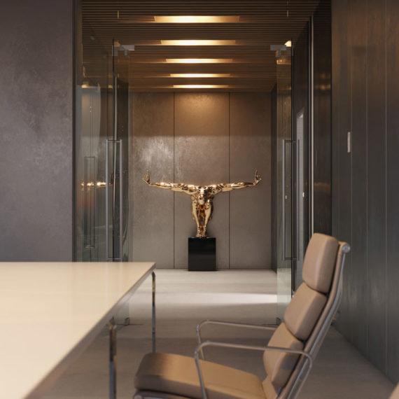 interior office 3d render