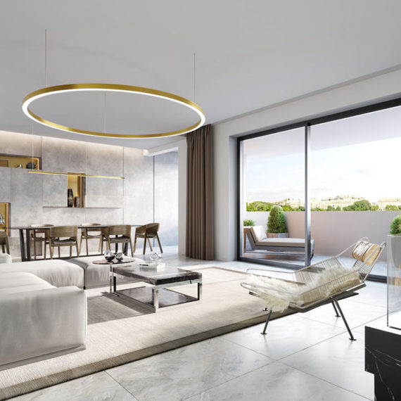 modern interior 3d visualization