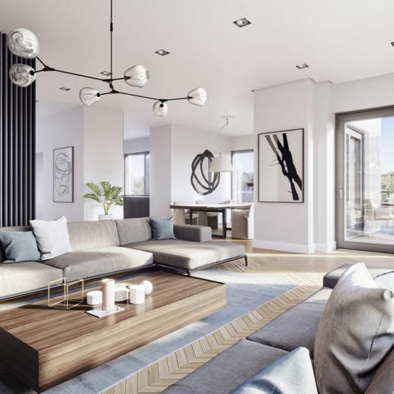 modern interior 3d visualization minotti
