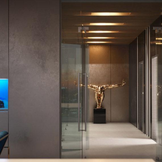 office interior 3d visualization