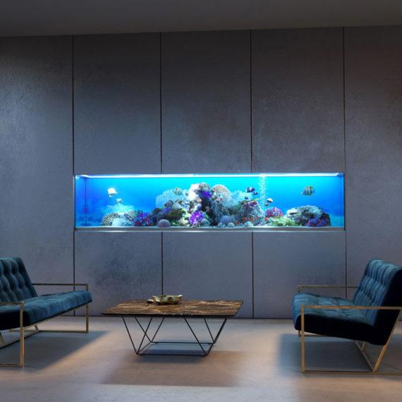 office interior aquarium 3d render