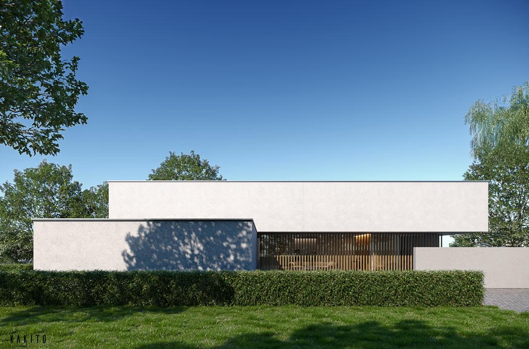 wizualizacje 3d architektoniczne dom horyzontalny