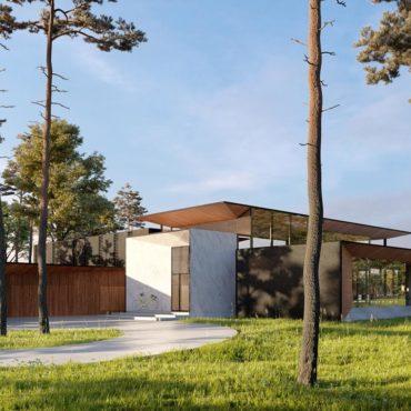 wizualizacje 3d architektoniczne dom jednorodzinny