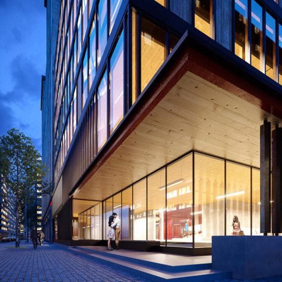 wizualizacje 3d architektoniczne strefa wejściowa biurowiec