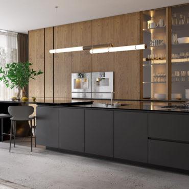 wizualizacje 3d produktowe kuchnia elegancka