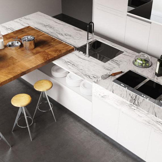 wizualizacje 3d produktowe kuchnia marmur