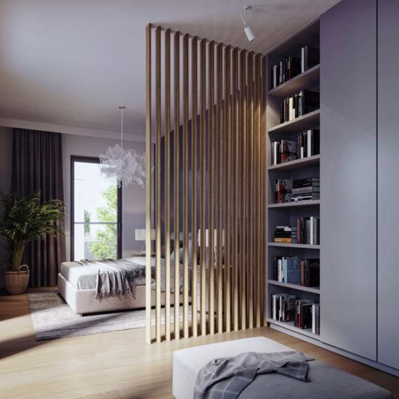 wizualizacje 3d wnętrz przytulna sypialnia