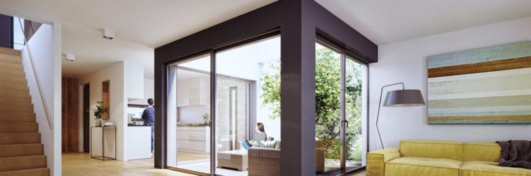 wizualizacje 3d wnętrz salon z patio