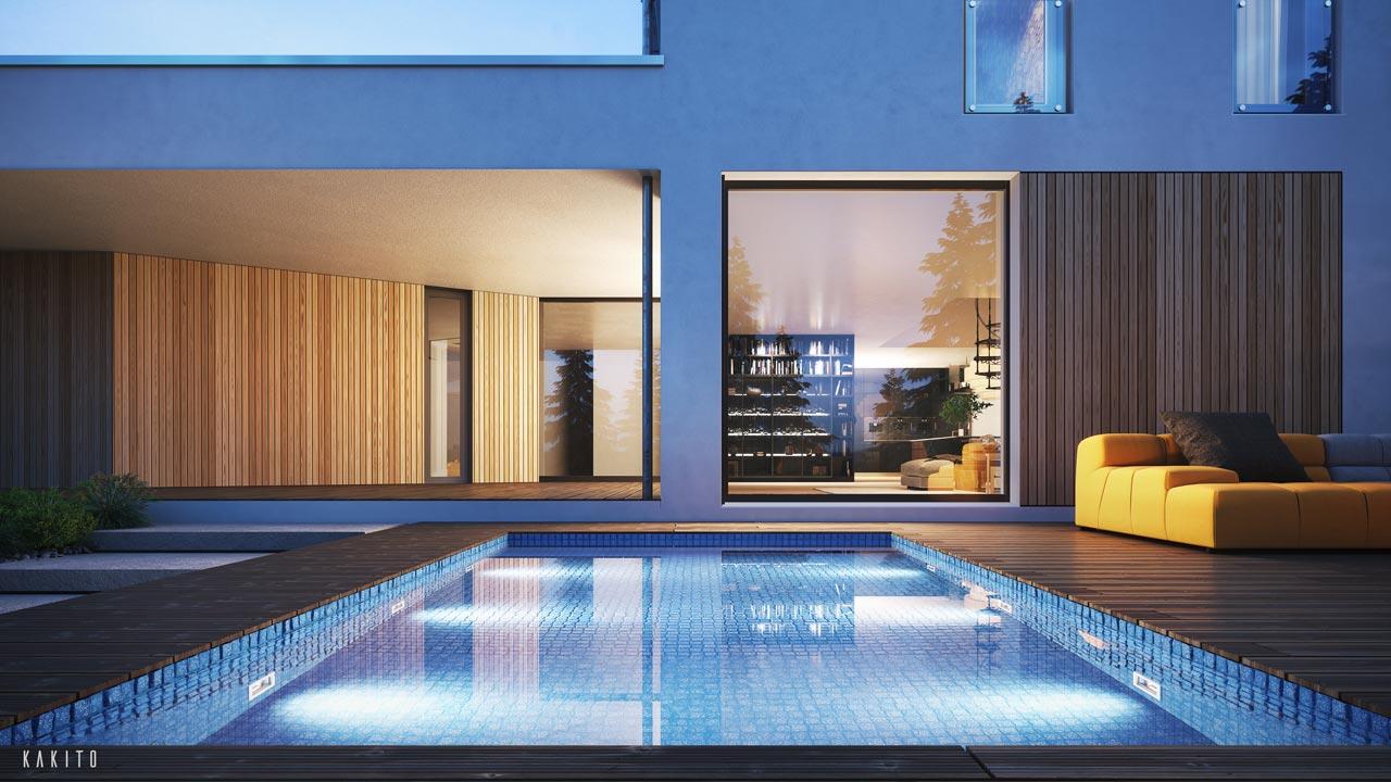 wizualizacje architektoniczne 3d basen