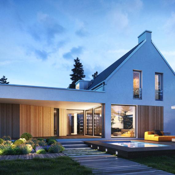 wizualizacje architektoniczne 3d dom ogrod