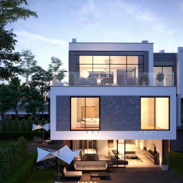 wizualizacje deweloperskie 3d dom z ogrodem
